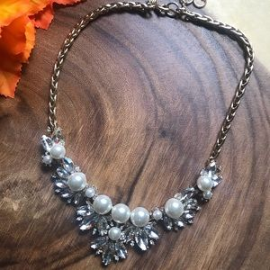 Banana Republic Pearl & Rhinestone Statement Piece